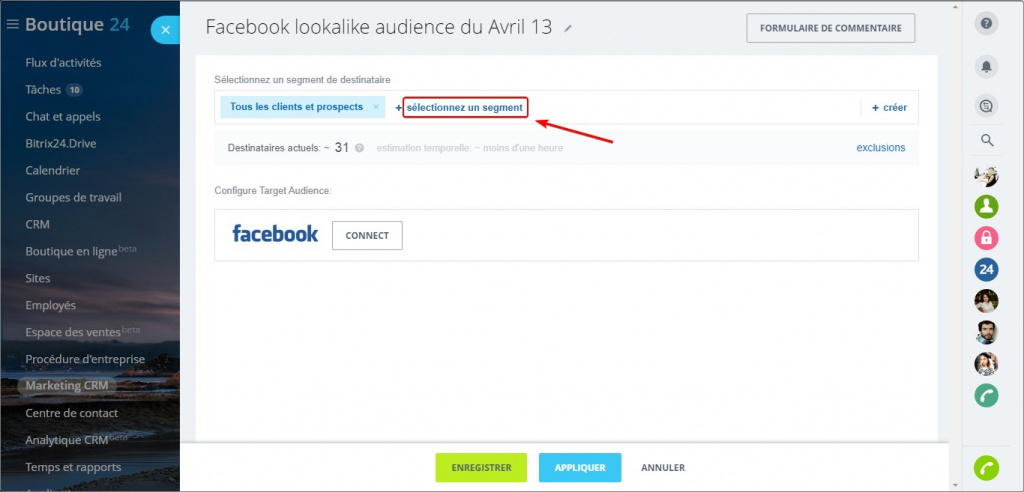 Facebook lookalike audience dans le Marketing CRM