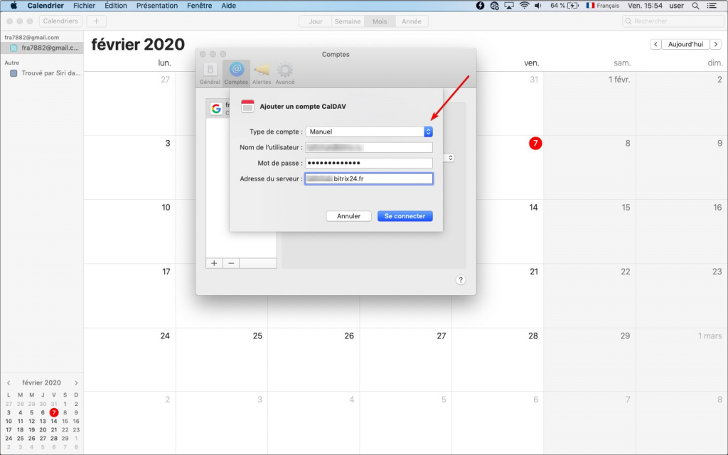 Connecter le calendrier Mac à Bitrix24