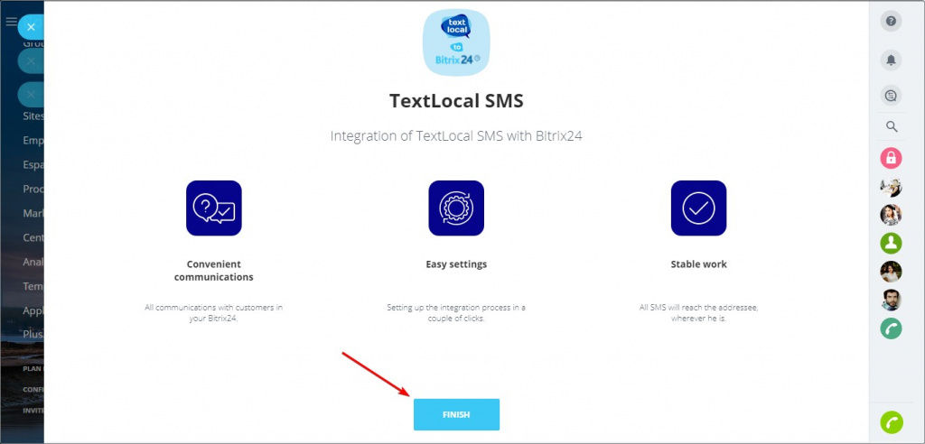 Application TextLocal SMS Integration
