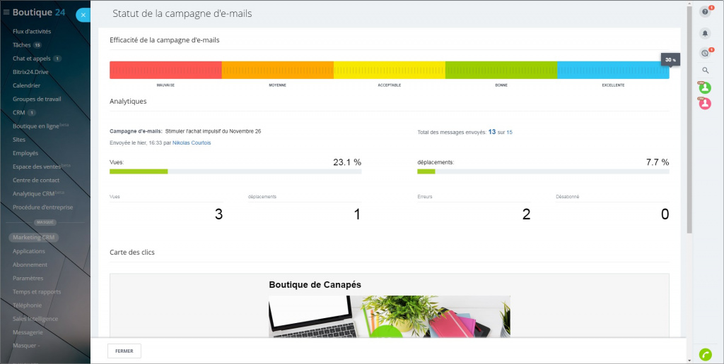 Vue d'ensemble du marketing CRM