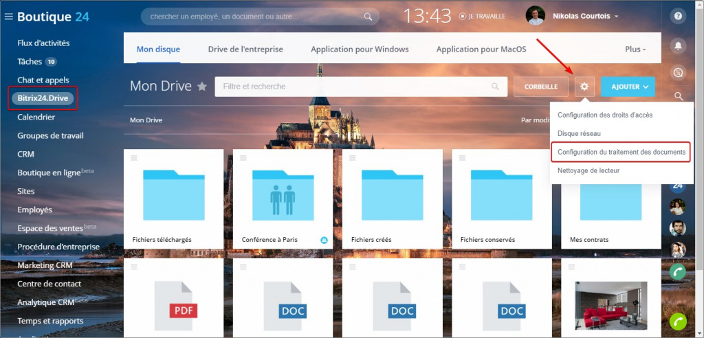 Intégration avec Office 365, Google Docs, MS Office Online