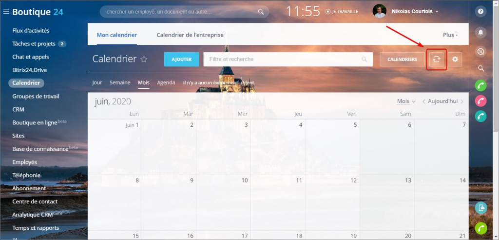 Connecter MS Outlook au calendrier Bitrix24