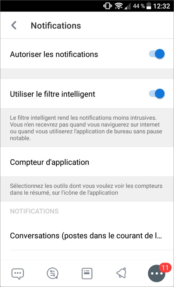 Fonctionnalités de l'application mobile